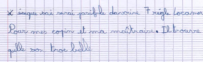 la lettre d'erwan reçue à l'agence locarmor de Guingamp par Nathalie équipier locarmor