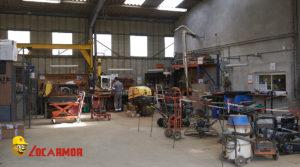 """L'atelier de réparations du """"petit matériel"""" de l'agence Locarmor Quimper Nord"""